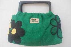Irie Threads (Green Burlap Handbag)